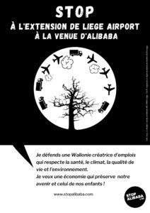 Affiche stop alibaba&co environnement