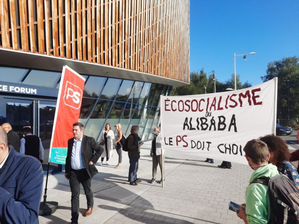 Une action de Stop Alibaba à Mons contre le parti socialiste