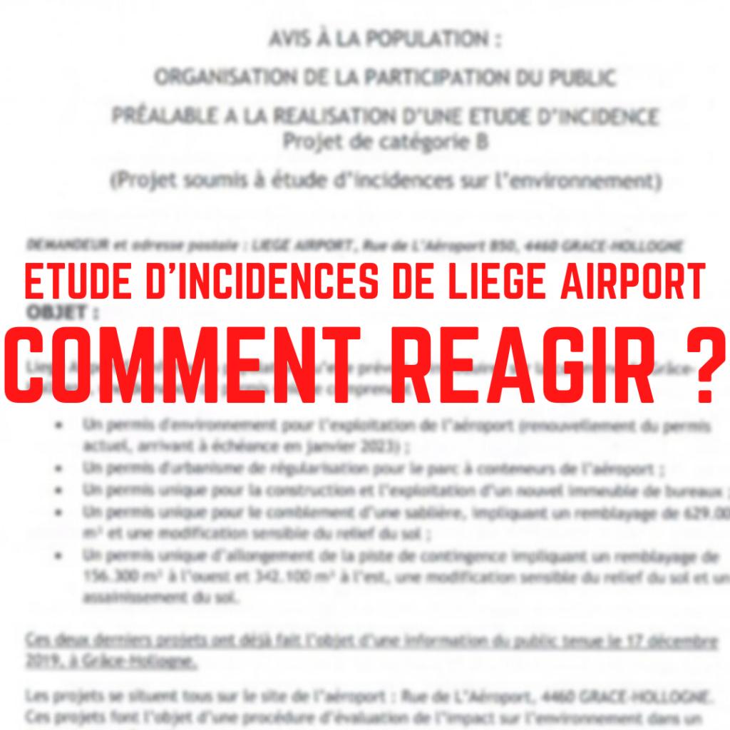 Etude d'incidences de Liege Airport