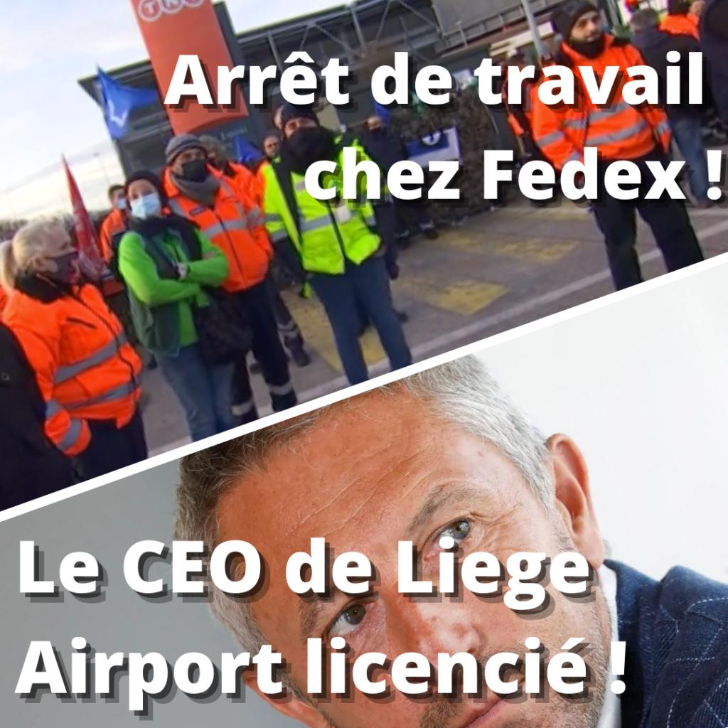 Luc Partoune licencié et des travailleurs en grève chez fedex