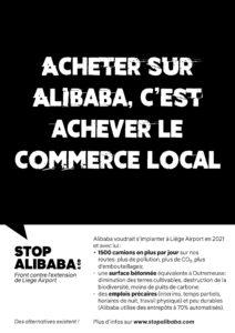 affiche Commerce acheter sur Alibaba c'est achever le commerce local