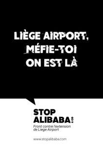 Affiche Liege Airport méfie toi on est là