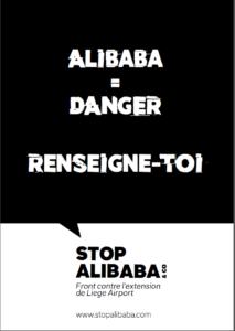 Affiche Liege Airport Alibaba = danger Renseigne toi